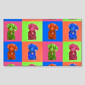 Pop Art Dachshund Pattern Sticker