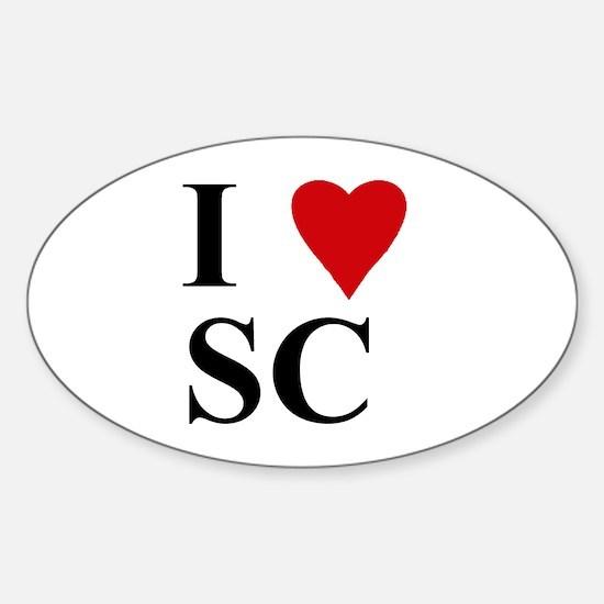 SOUTH CAROLINA (SC) Oval Decal