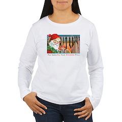 Santa Christmas Stockings (Front) T-Shirt