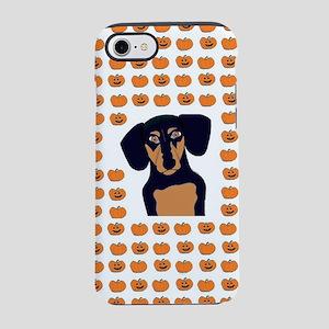 Black and Tan Halloween Dach iPhone 8/7 Tough Case