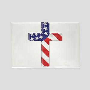 Freedom Cross Rectangle Magnet