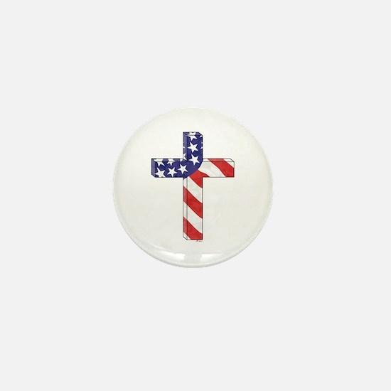 Freedom Cross Mini Button