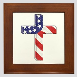 Freedom Cross Framed Tile