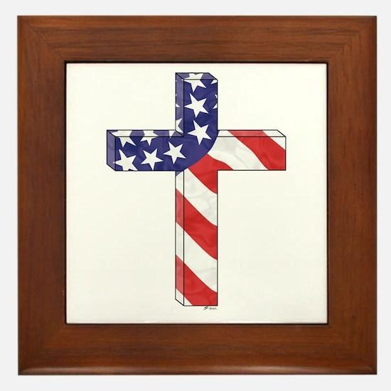 Freedom Cross Framed Tile