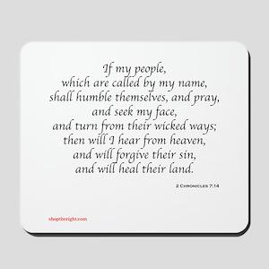 2 Chronicles 7:14 Mousepad