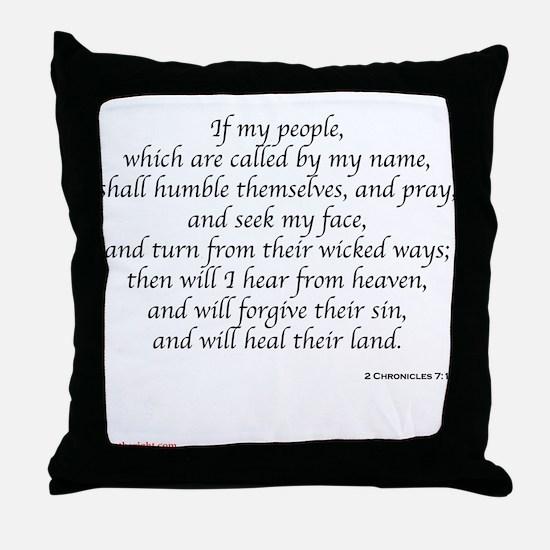 2 Chronicles 7:14 Throw Pillow