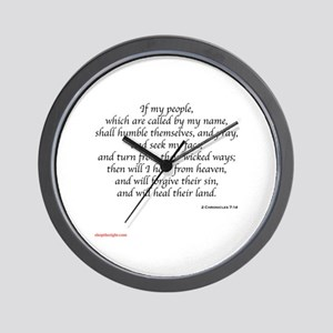 2 Chronicles 7:14 Wall Clock