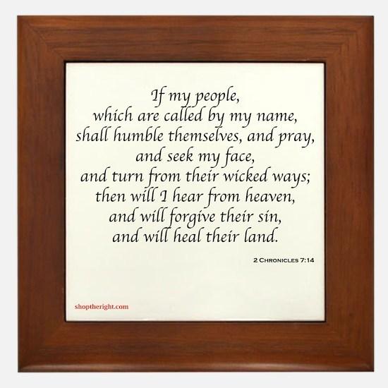 2 Chronicles 7:14 Framed Tile