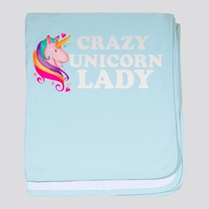 Crazy Unicorn Lady baby blanket