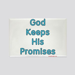 Blue God Keeps His Promises Rectangle Magnet
