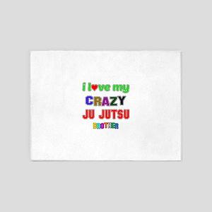 I Love My Crazy Ju Jutsu Brother 5'x7'Area Rug
