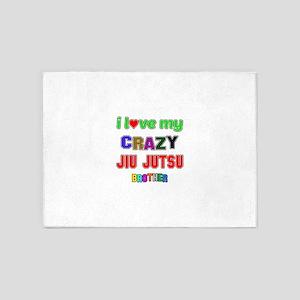 I Love My Crazy Jiu Jutsu Brother 5'x7'Area Rug