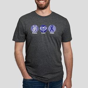 Peace Love Pur Hope Mens Tri-blend T-Shirt
