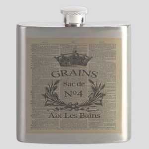 rustic country farmhouse wheat Flask
