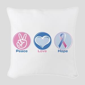 Peace Love Blpk Hope Woven Throw Pillow
