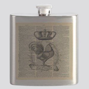 farmhouse chic farm rooster Flask