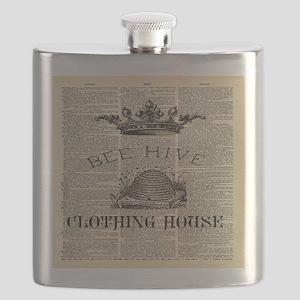 rustic farmhouse Bee Hive Flask