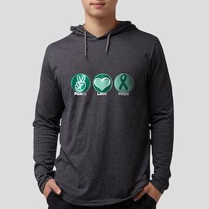 Peace Love Gr Hope Mens Hooded Shirt