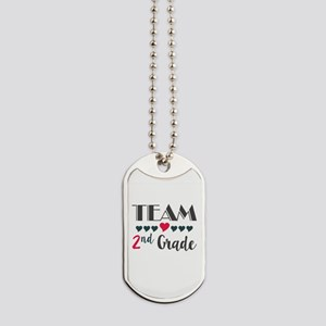 Team 2nd Grade Teacher Shirts Back to Sch Dog Tags