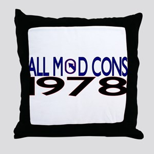 ALL MOD CONS 1978 Throw Pillow