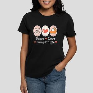 Peace Love Pumpkin Pie Women's Dark T-Shirt