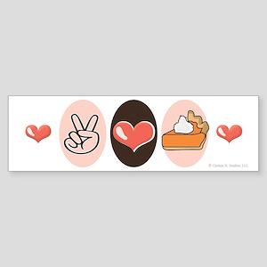 Peace Love Pumpkin Pie Bumper Sticker