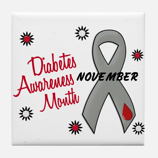 Diabetes Awareness Month 1.1 Tile Coaster