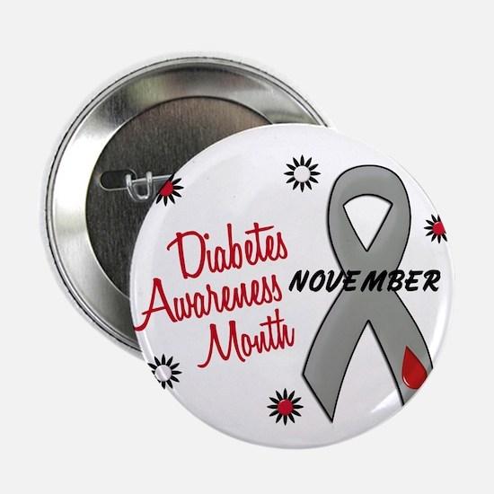 "Diabetes Awareness Month 1.1 2.25"" Button"