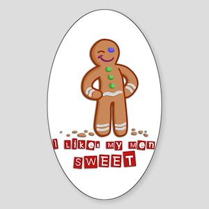 Ginger Guy Oval Sticker
