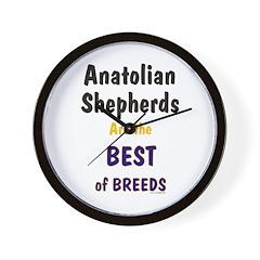 Anatolian Shepherd Best of Breeds Wall Clock