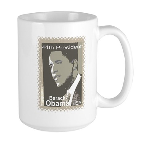 OBAMA SHOPS: 44th President Large Mug