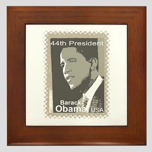 OBAMA SHOPS: 44th President Framed Tile