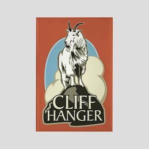 Mountain Goat Cliffhanger Rectangle Magnet