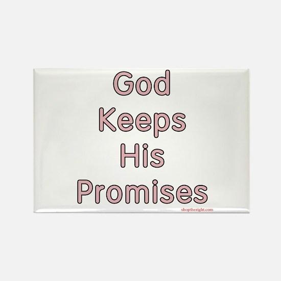 Pink God Keeps His Promises Rectangle Magnet