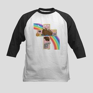 Pink Noah's Cross Kids Baseball Jersey