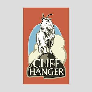 Mountain Goat Cliffhanger Rectangle Sticker