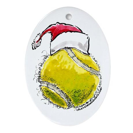 Tennis Xmas Oval Ornament