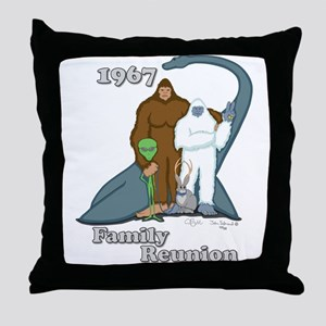 1967 Family Reunion Throw Pillow