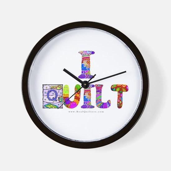 I Quilt Wall Clock