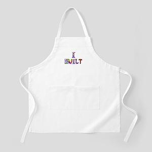 I Quilt BBQ Apron