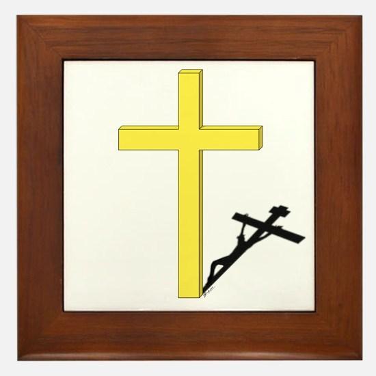 Cross of Christ Framed Tile