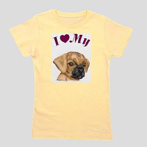 Heart Puggle Ash Grey T-Shirt