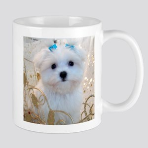 Maltese Blue Bows Mug