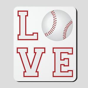 Love Baseball Mousepad
