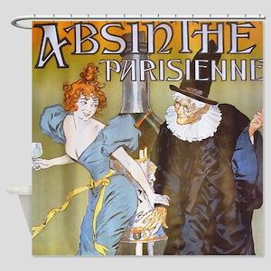 Absinthe Parisienne Shower Curtain