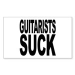 Guitarists Suck Rectangle Sticker