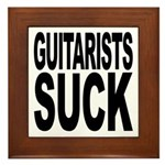 Guitarists Suck Framed Tile