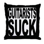 Guitarists Suck Throw Pillow