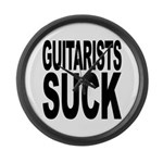 Guitarists Suck Large Wall Clock