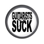 Guitarists Suck Wall Clock